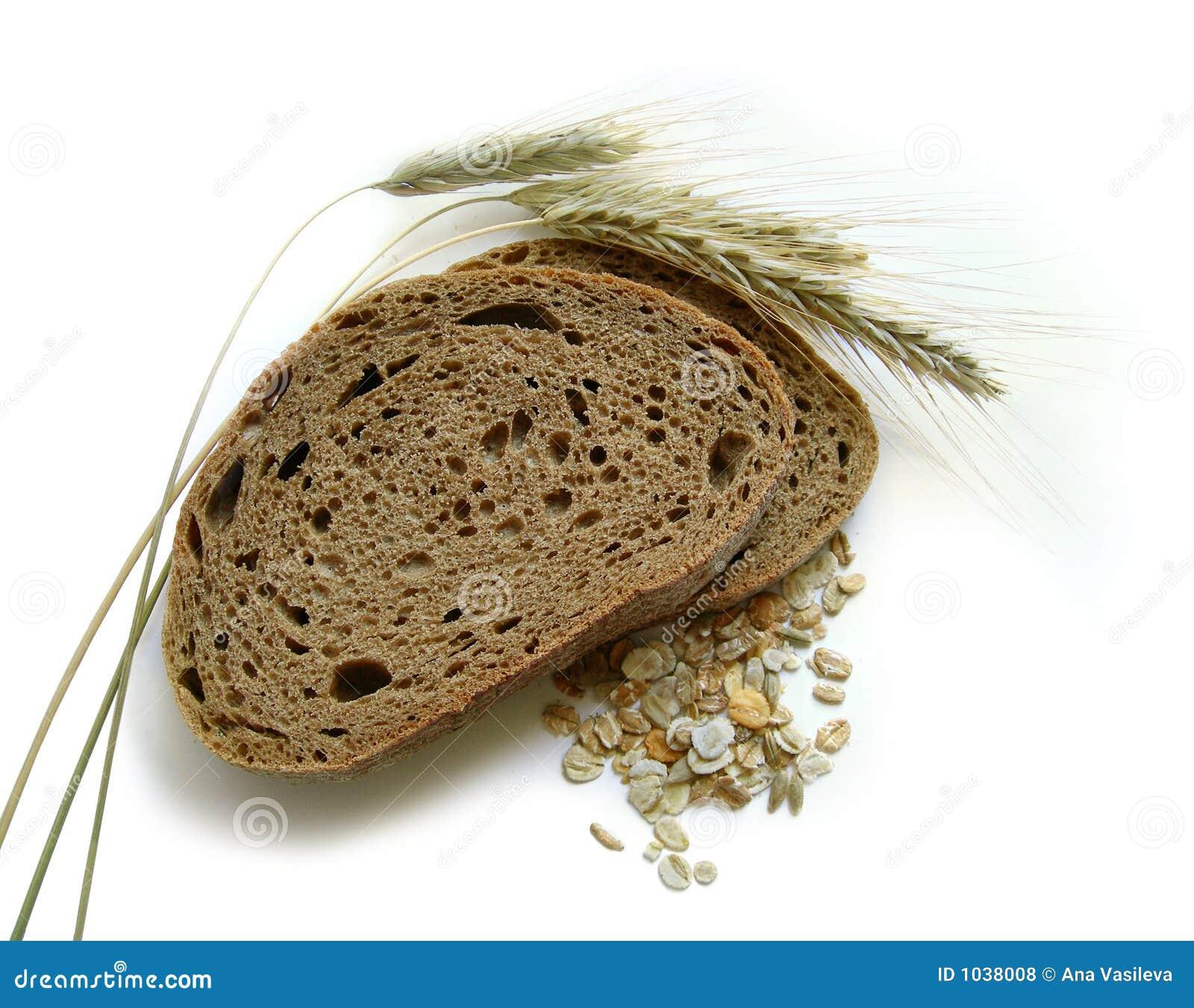 Bruin brood, roggeoren (aren) en graan