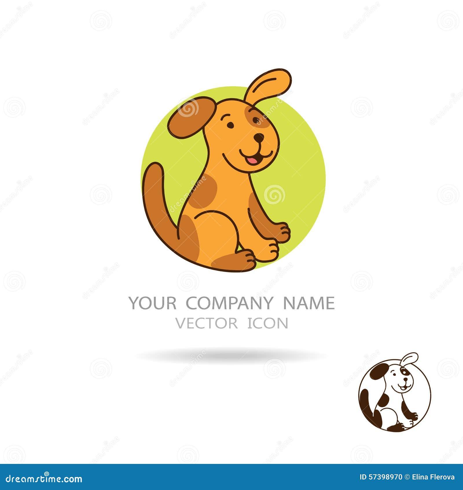 Bruin hond of puppy met cirkelachtergrond Zonnepaneel en teken voor alternatieve energie