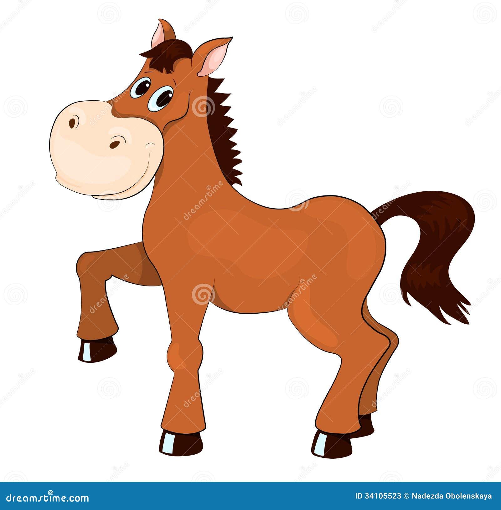 Bruin Paard Vector Illustratie Illustratie Bestaande Uit