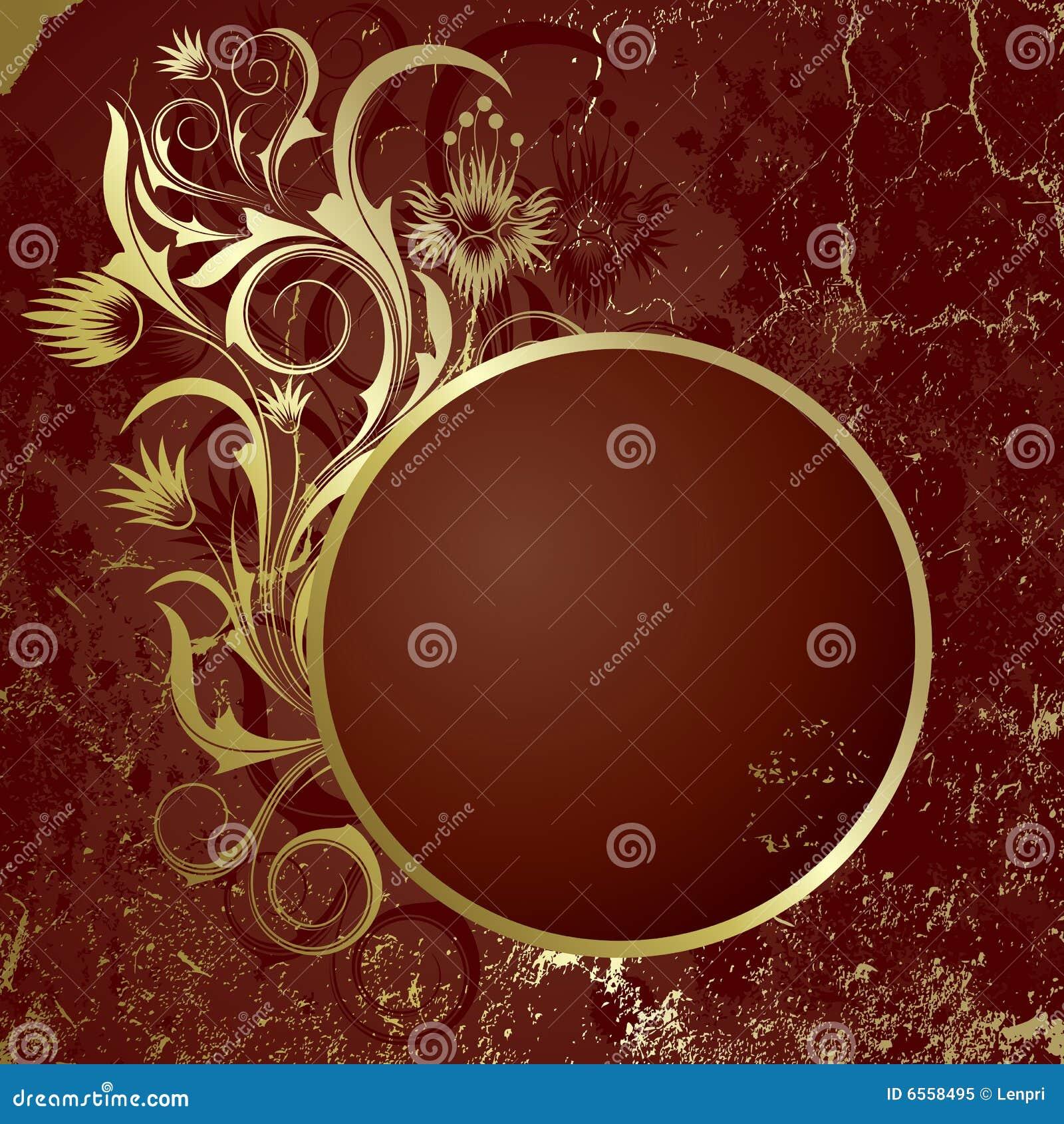 Bruine achtergrond met frame