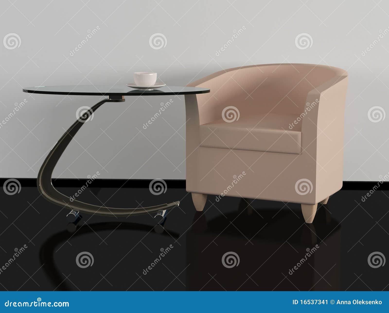 Bruine bank en koffietafel woonkamer stock afbeelding afbeelding 16537341 - Leunstoel voor eetkamer ...