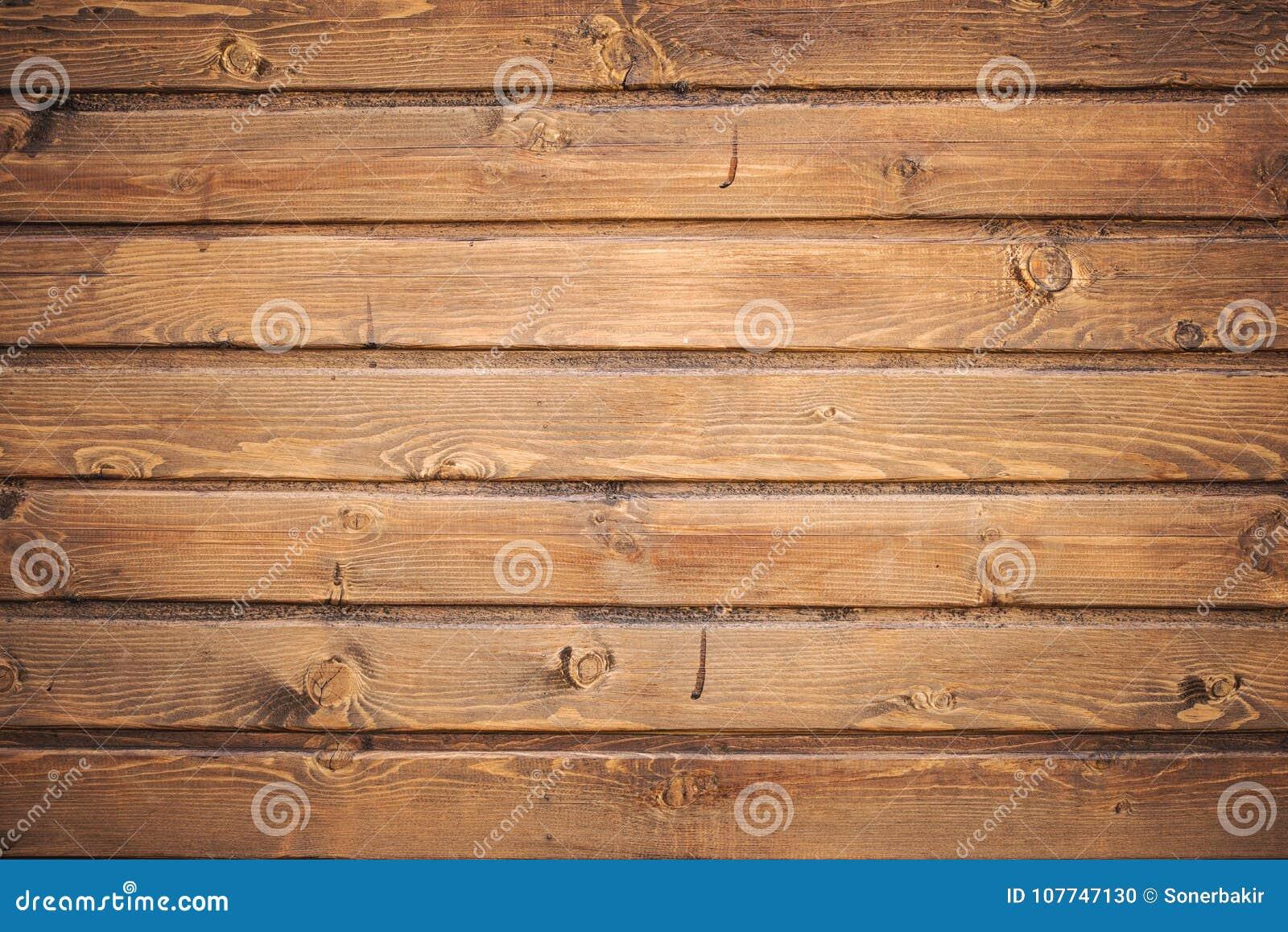 Bruine houten de textuurachtergrond van de plankmuur