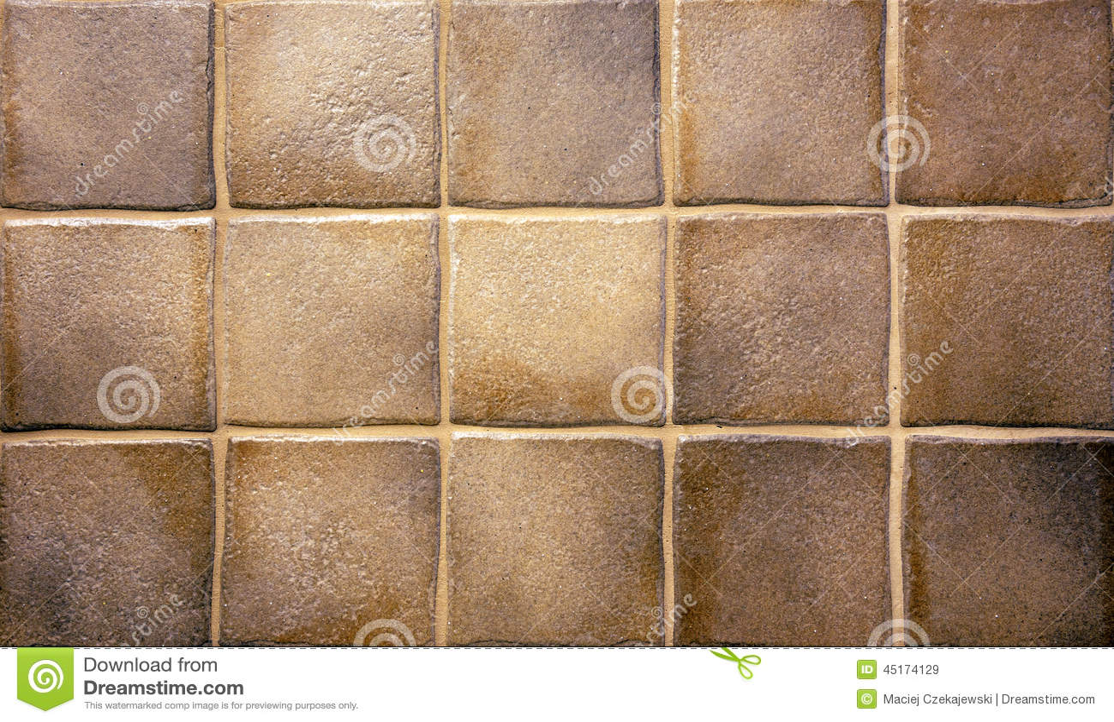 Bruine keukentegels stock foto afbeelding 45174129 for Bruine tegels