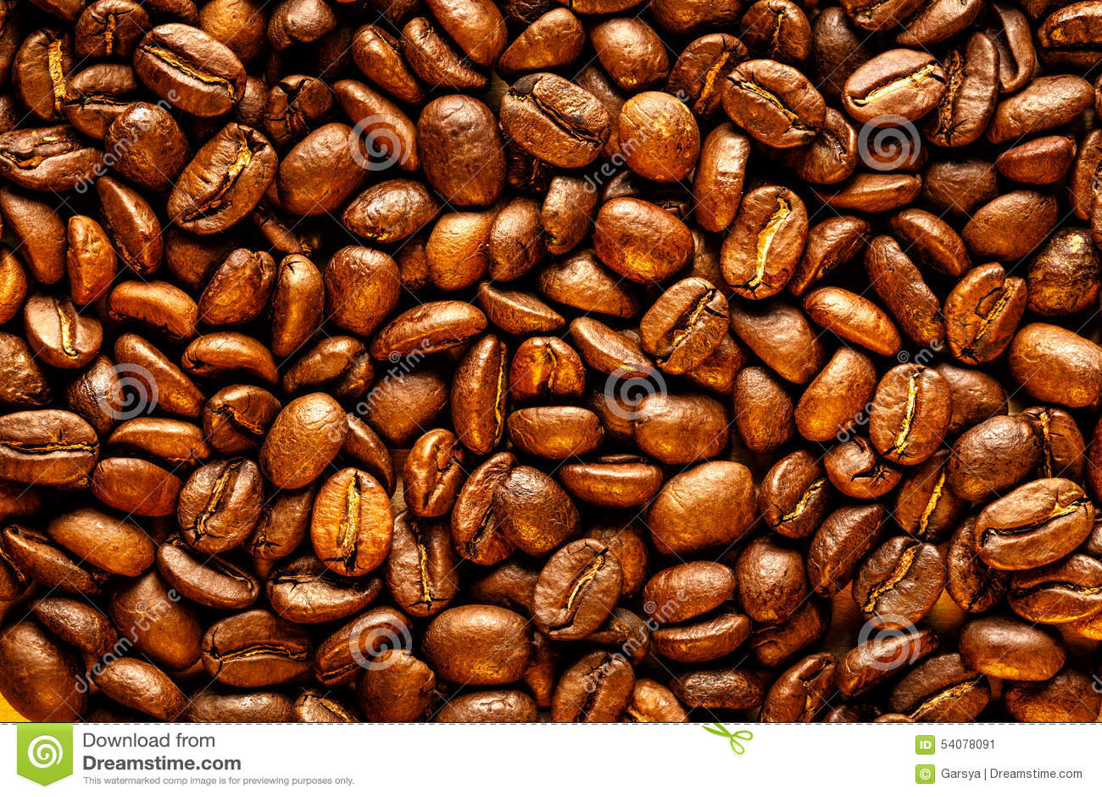 Bruine koffiebonen als achtergrond