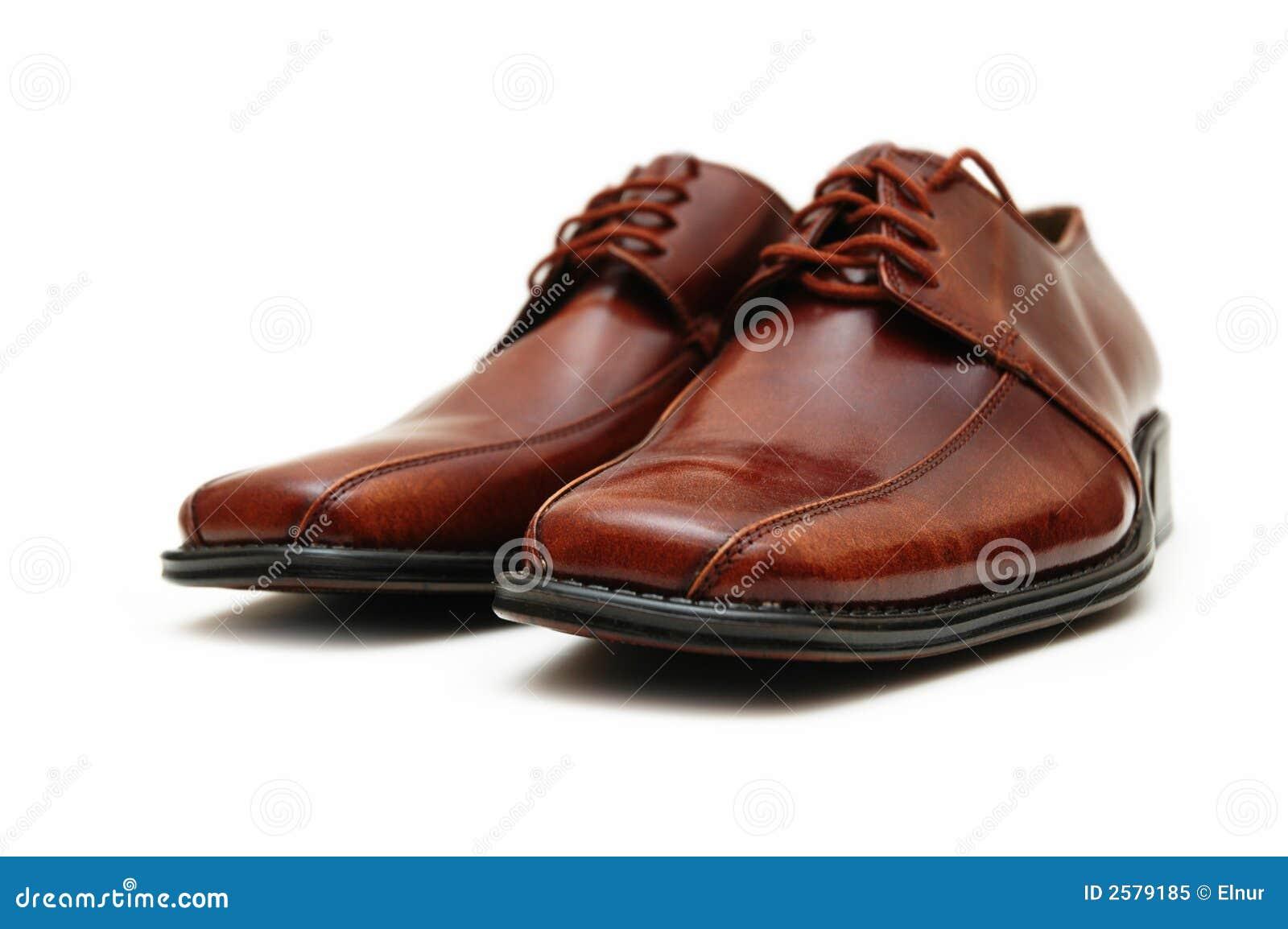 Bruine mannelijke geïsoleerden schoenen
