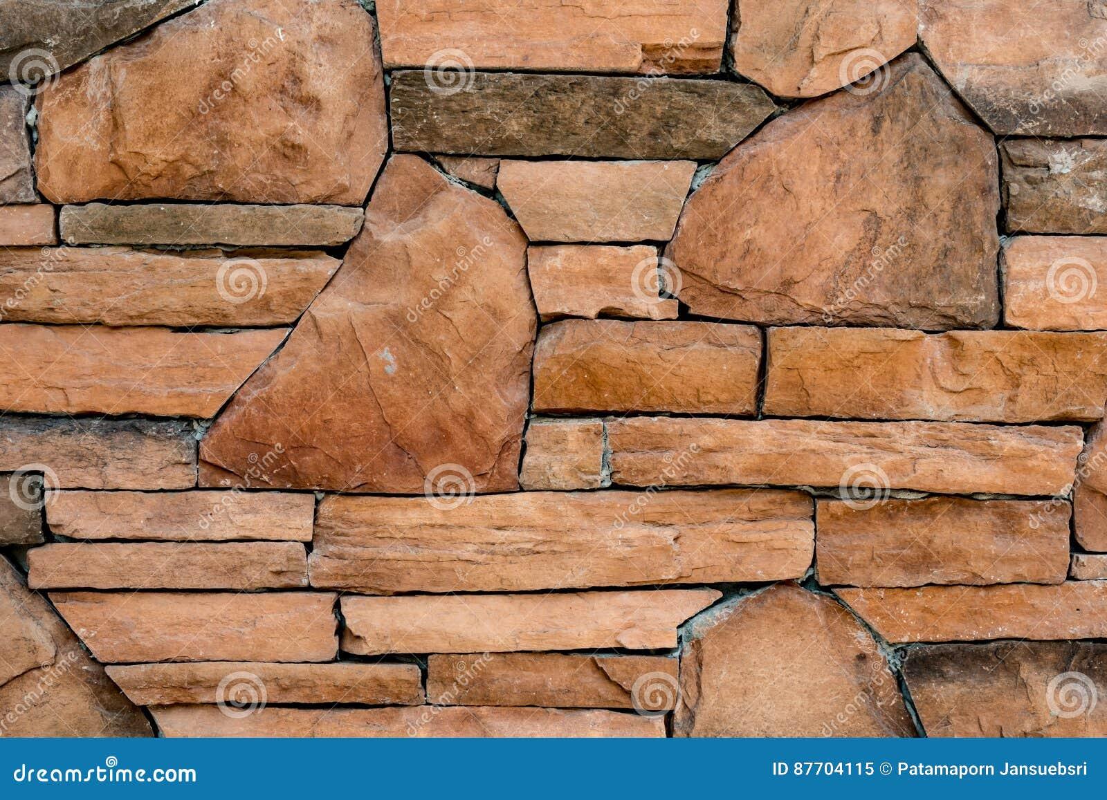 Bruine steenmuur