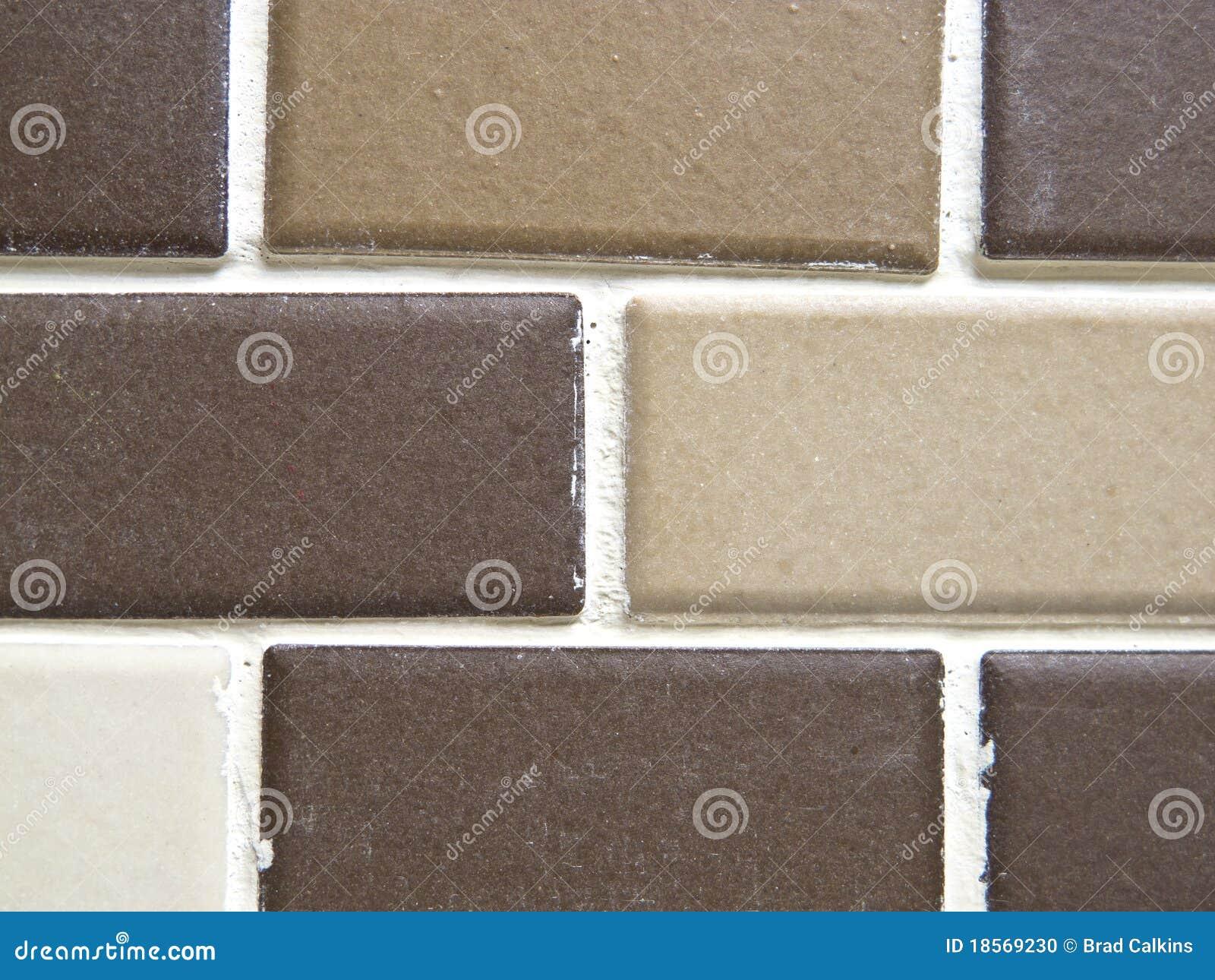 Bruine Badkamer Tegels ~ Bruine Tegels Stock Foto  Afbeelding 18569230