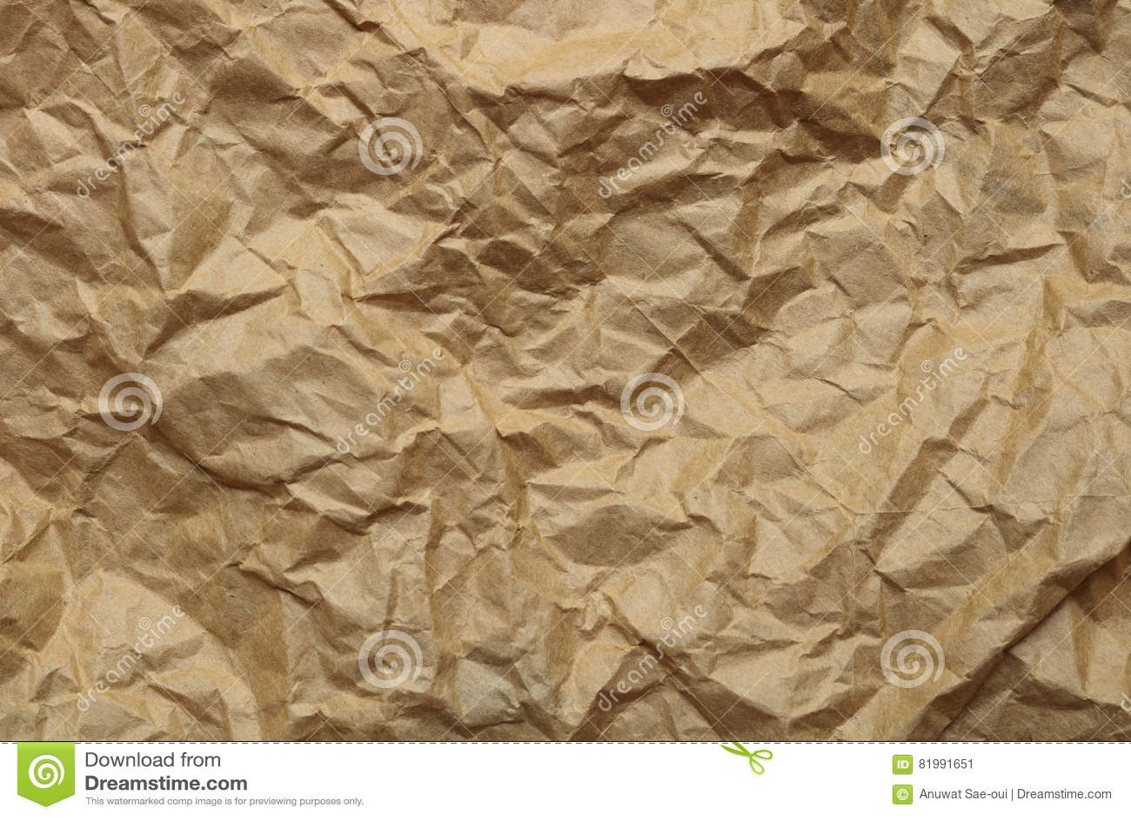 Bruine verfrommelde document textuur