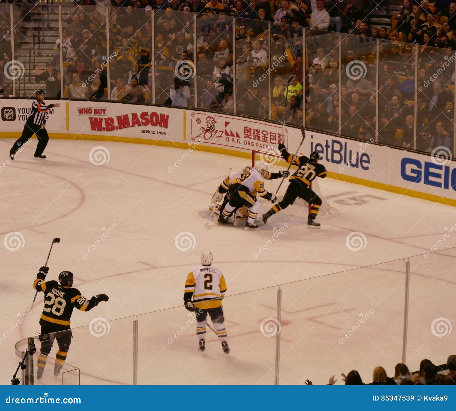 TD Garden Set Up For Bruins Hockey Editorial Photo