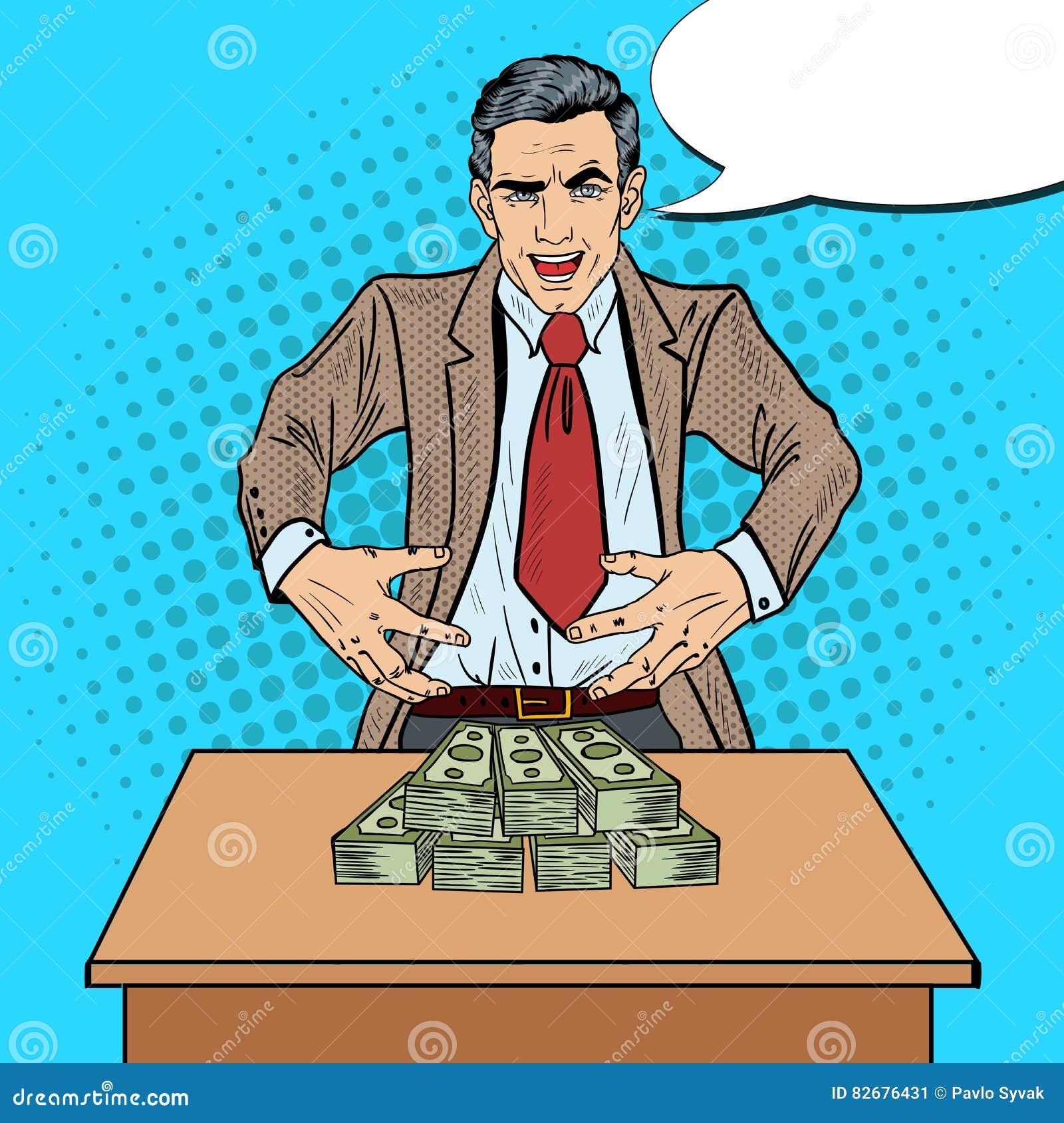 Bruit Art Businessman Wants pour saisir l argent