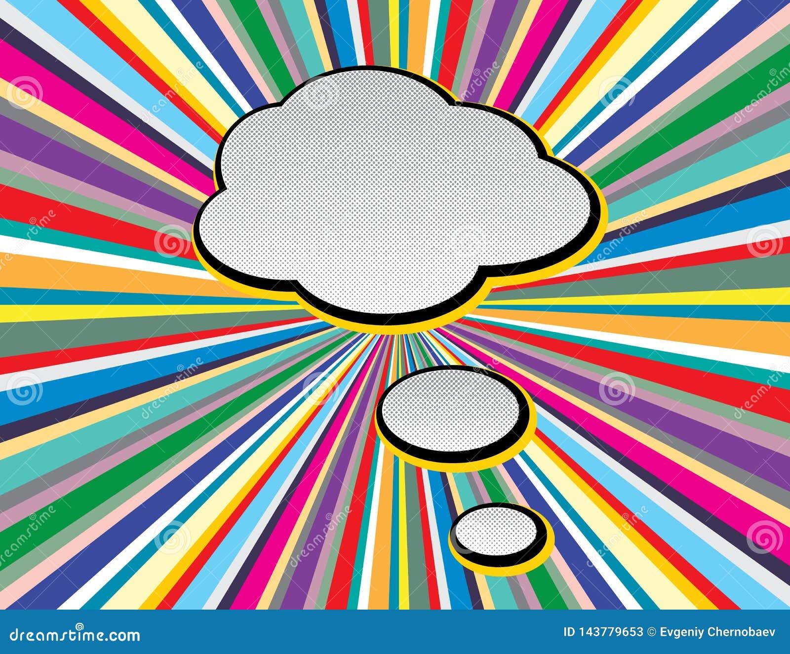 Bruit comique Art Style de bulle de la parole des textes sur le fond de rayons de style de TV Les r?tros bulles vides comiques de