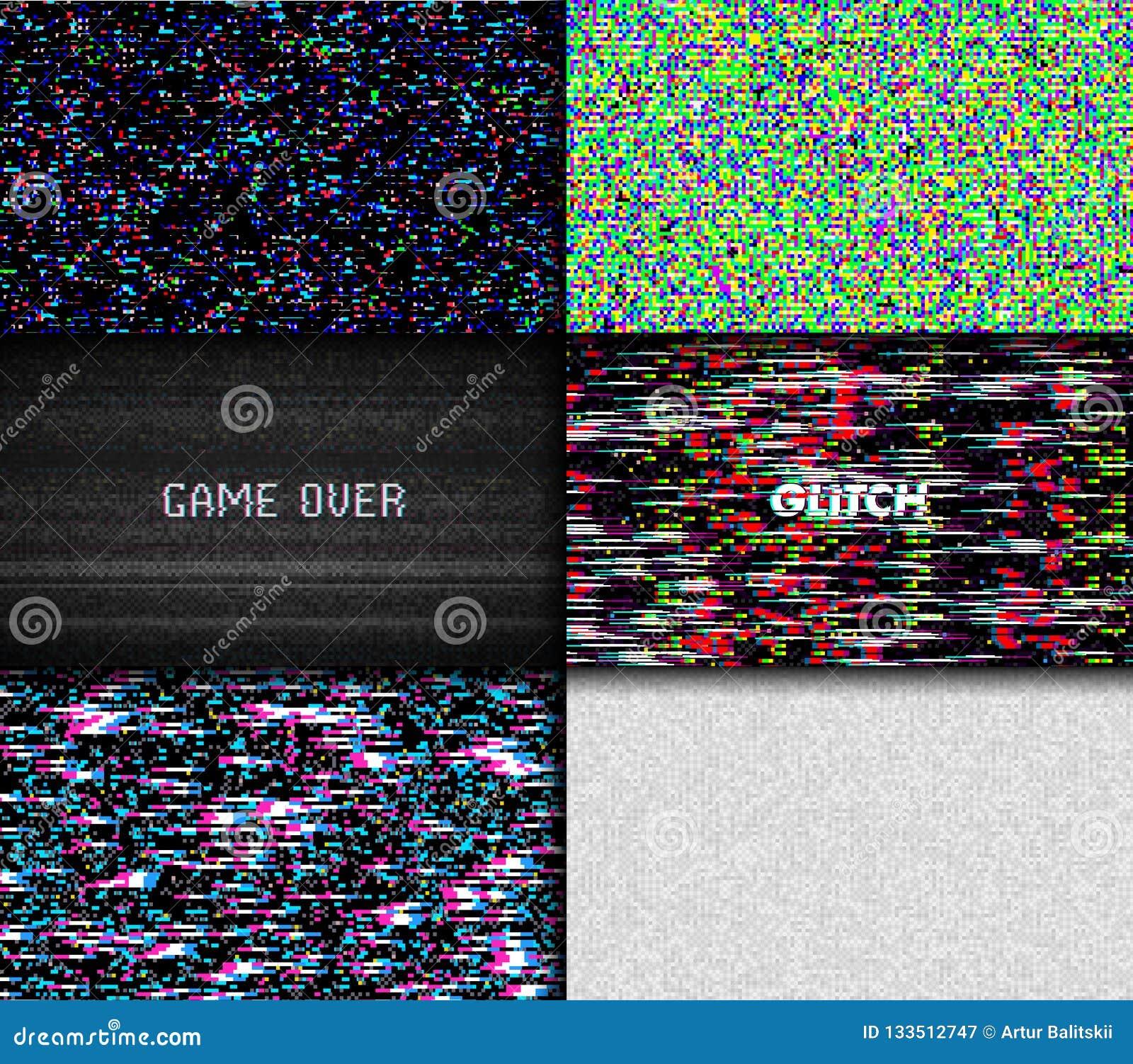 Bruit de pixel de texture de problème Fond de Digital VHS d écran de l essai TV Placez de la vidéo d ordinateur d erreurs Dommage