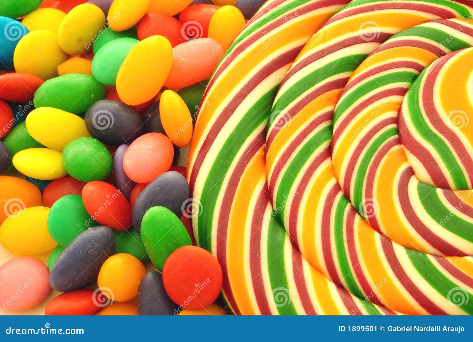 bruit et bonbons de sucette image stock - Sucette Colore