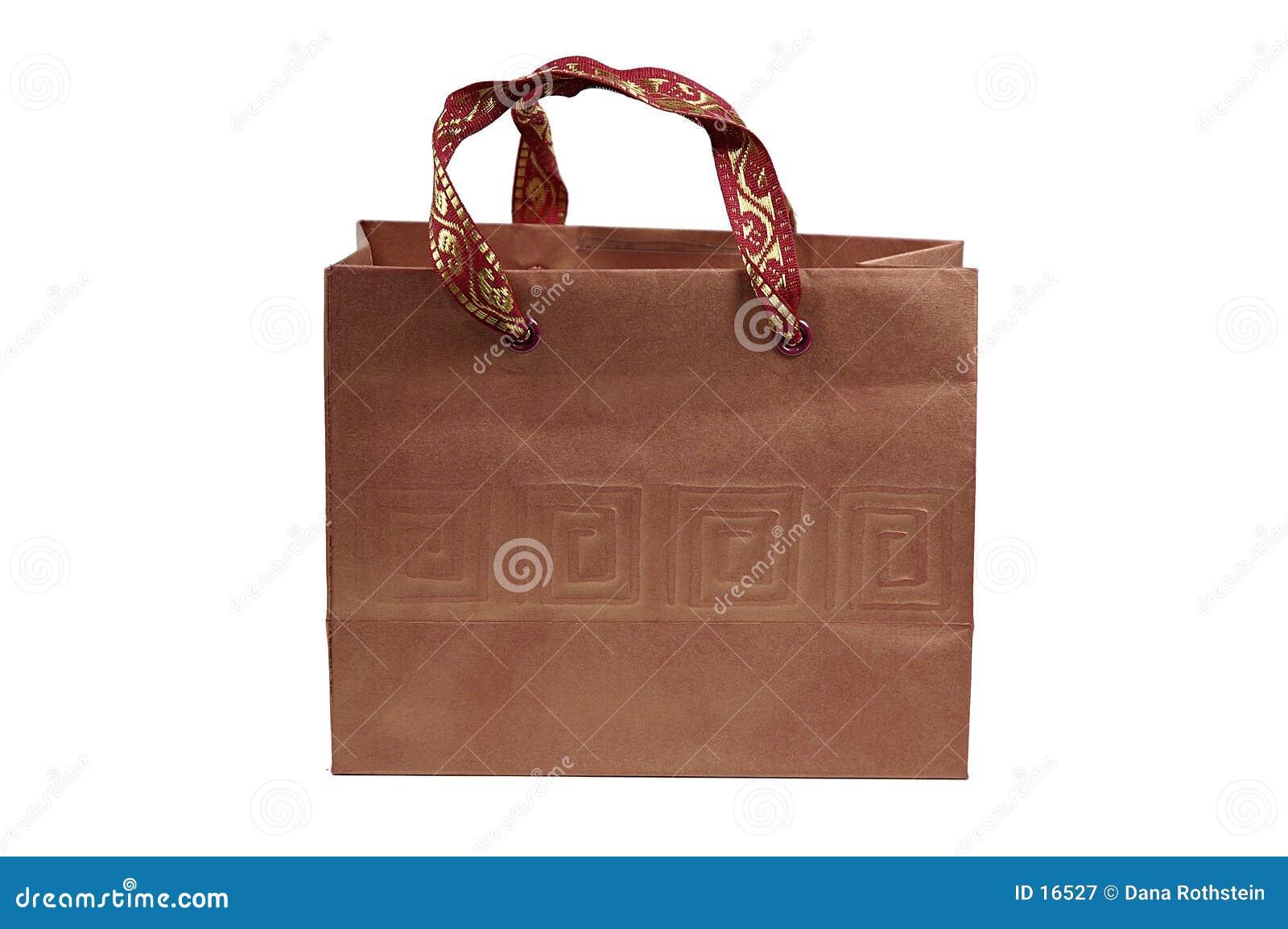 Brun giftbag