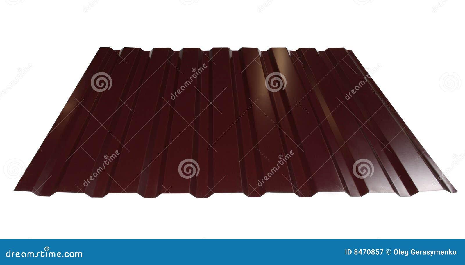 Brun metalltegelplatta