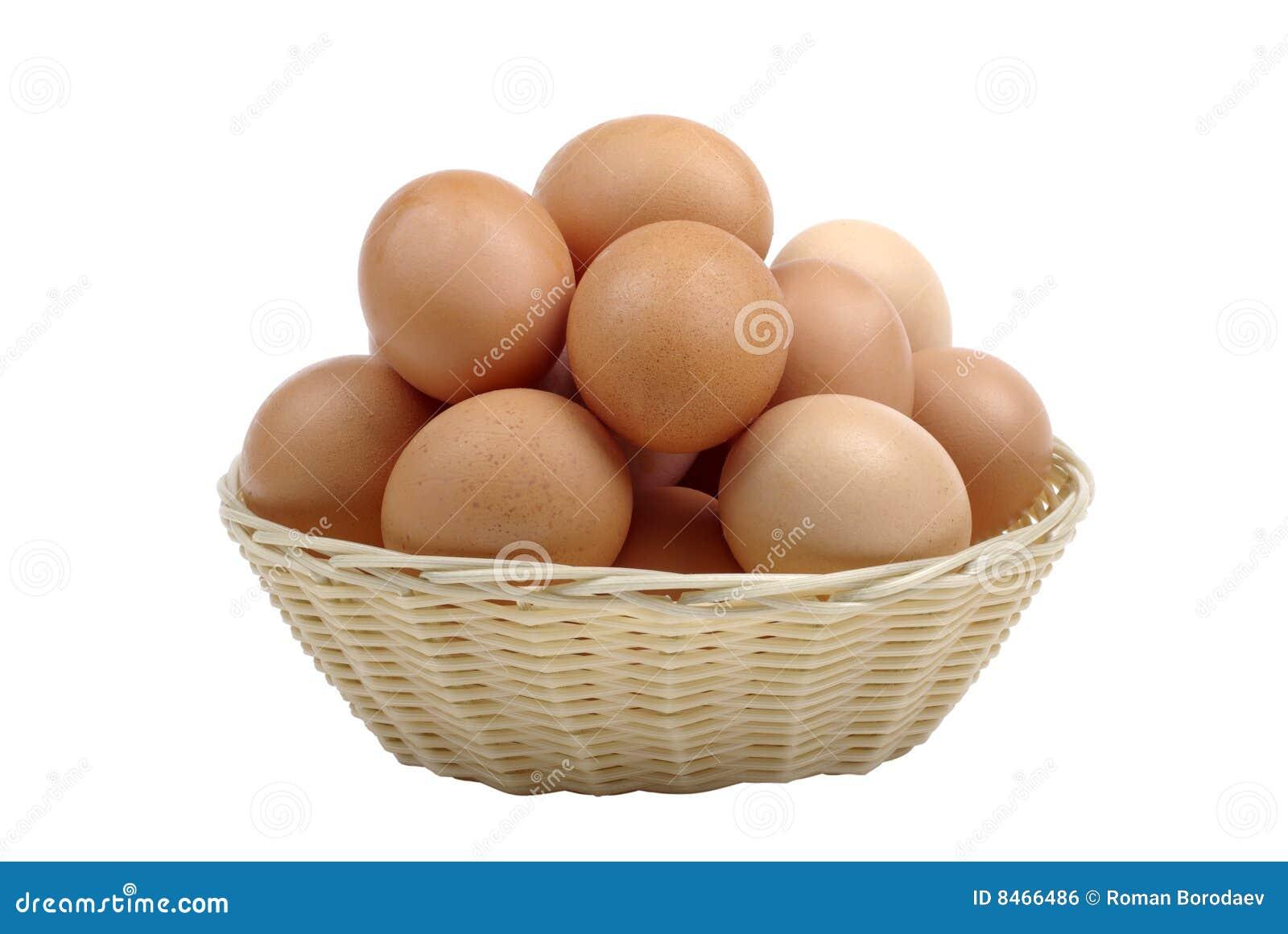 Bruna ägg för korg