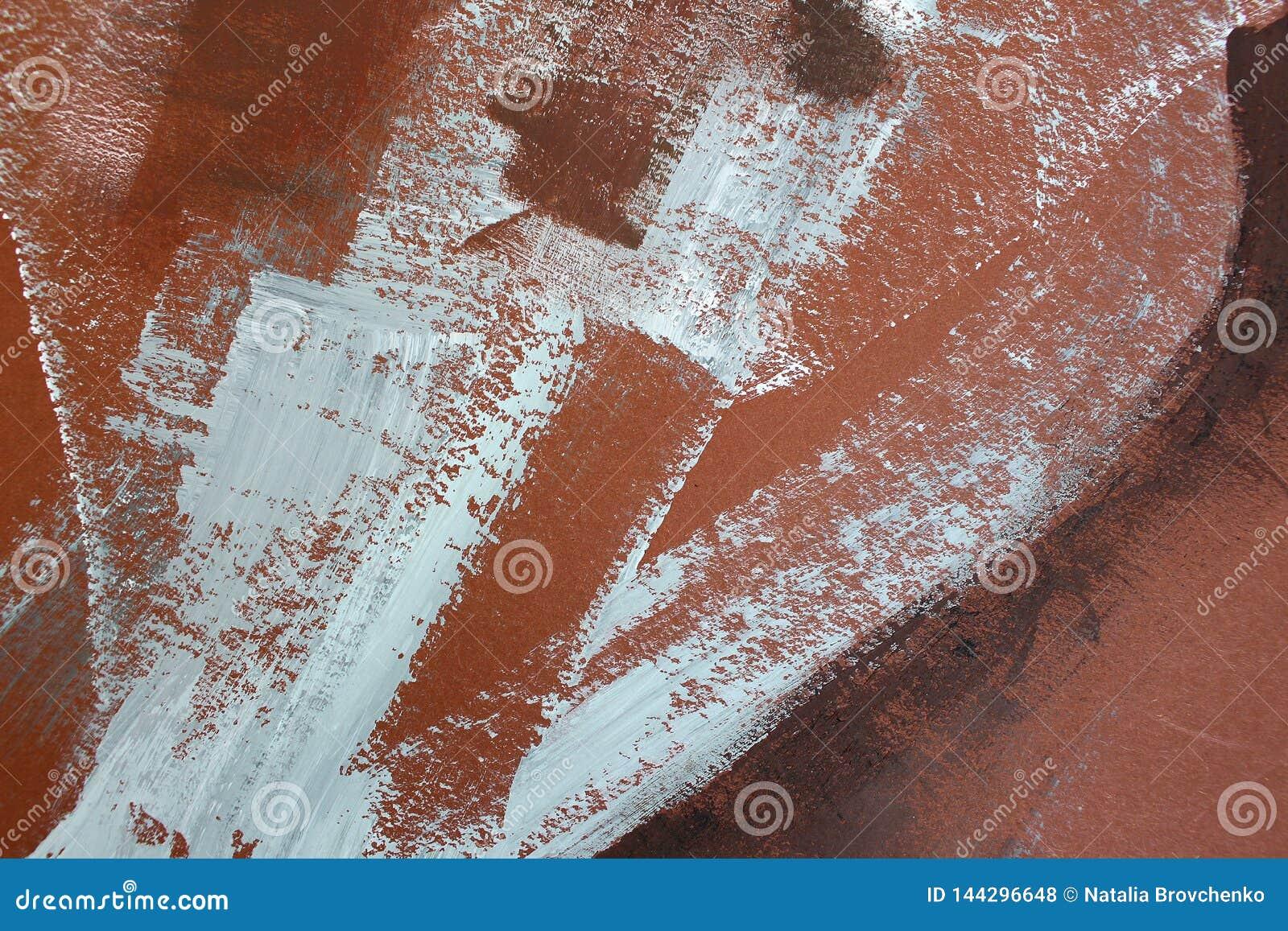 Bruna färger på kanfas abstrakt konstbakgrund Färgtextur Fragment av konstverk abstrakt kanfasmålning