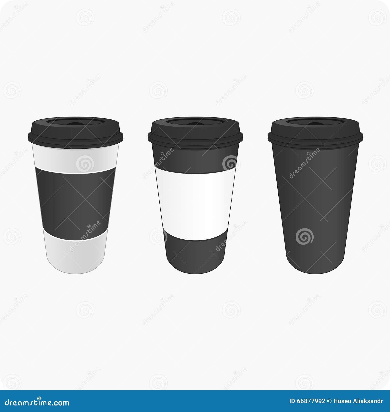 Bruna koppar för kaffe