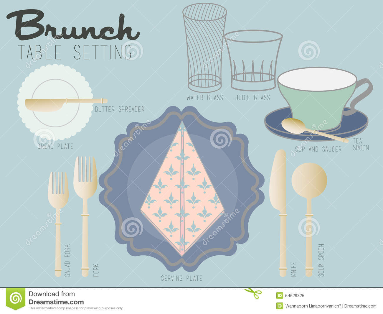 Brunch Table Setting Stock Image Image Of Dinner Butter