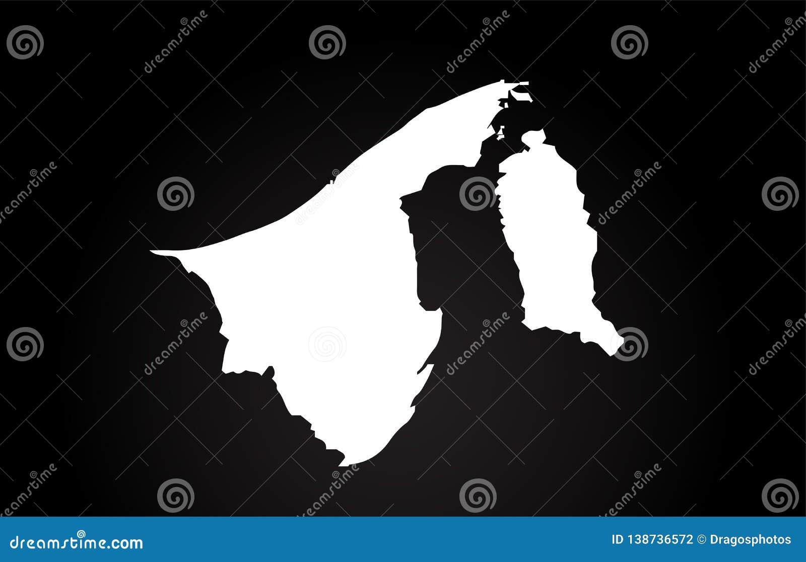 Brunei Black And White Country Border Map Logo Design Stock Vector Illustration Of Logo Logotype 138736572