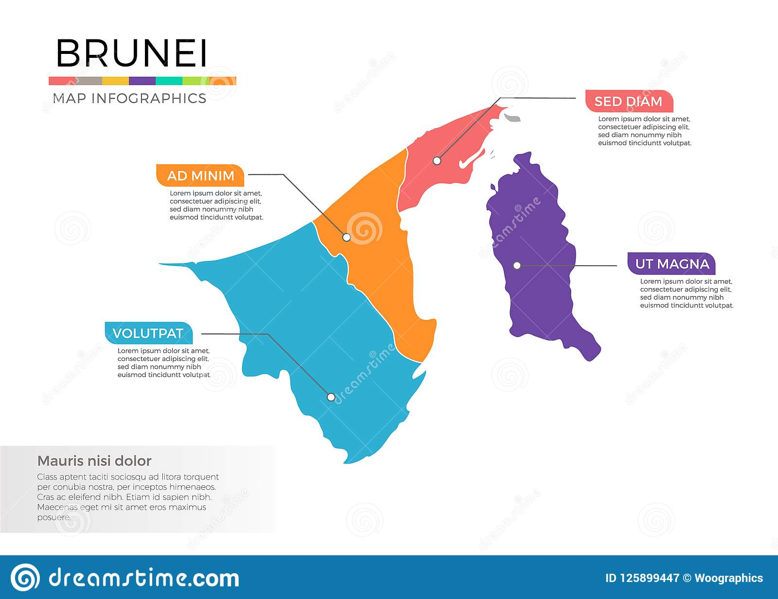 Picture of: Brunei Map Infographics Vector Template With Regions And Pointer Marks Stock Vector Illustration Of Infochart Icon 125899447