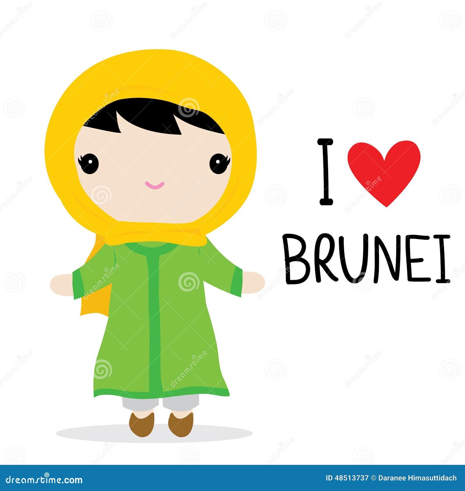 Brunei Women National Dress Cartoon Vector Stock Vector - Image: 48513737 X 23 Costume
