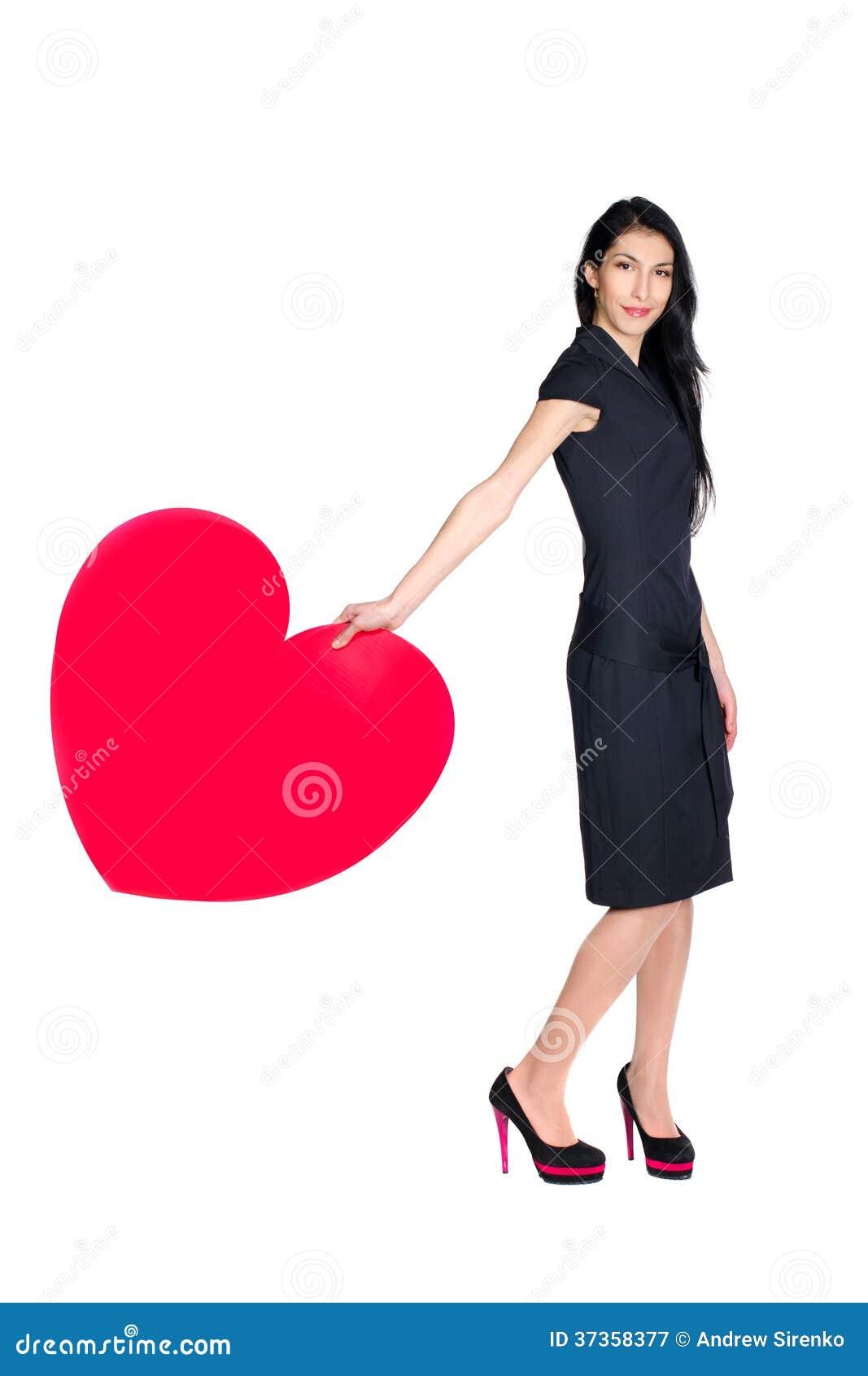 Brunett med hjärta