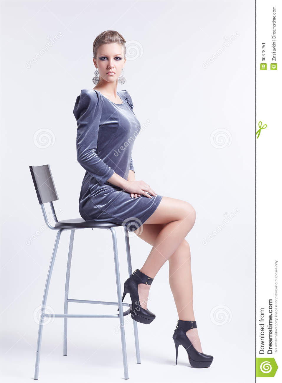 Brunette On Bar Stool Stock Image Image 30378251 : brunette bar stool portrait beautiful young woman stylish dress court shoes sitting chair 30378251 from dreamstime.com size 957 x 1300 jpeg 78kB