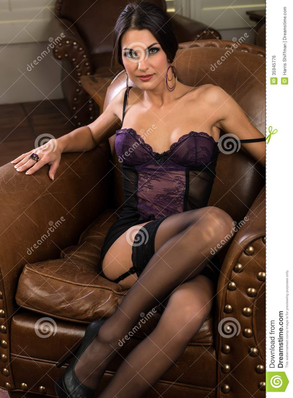 Brunette Royalty Free Stock Image Image 35945776