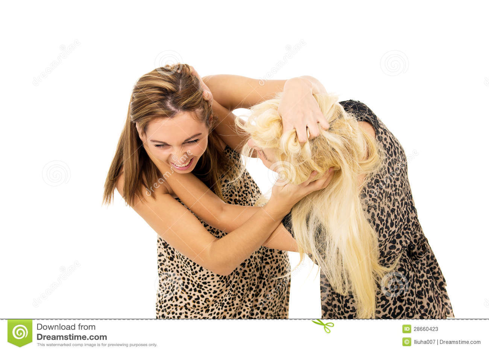 blonde girl fight