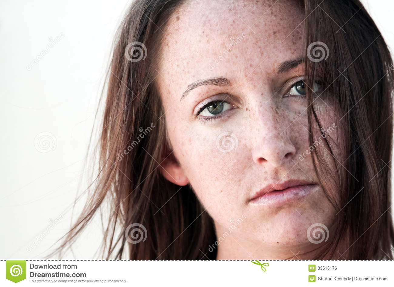Brunette With Freckles 81