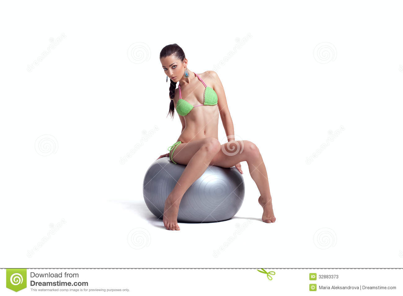 Question Ideal two hot brunette girl doing exercise