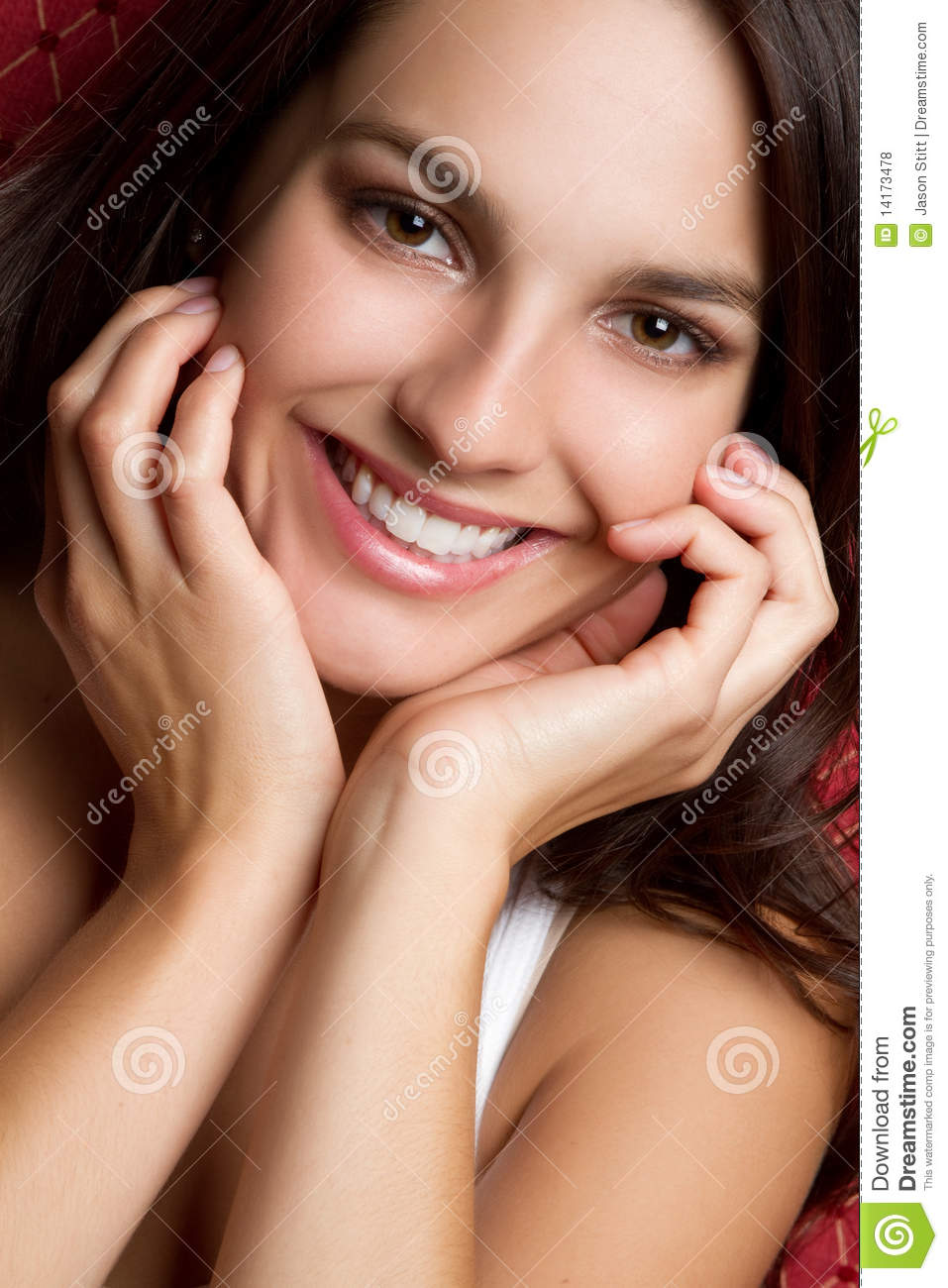 Brunette Girl Smiling Royalty Free Stock Photos
