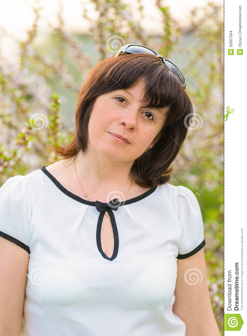 woman brunette Middle aged