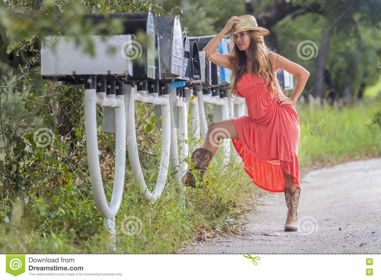 Waiting For Mail >> Brunette Model Waiting For The Mail Stock Image Image Of
