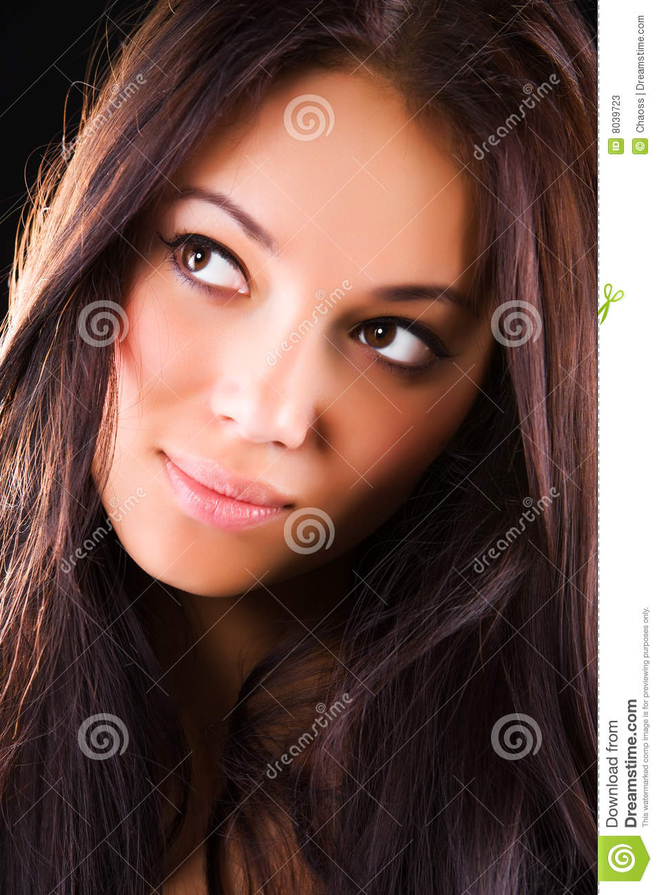 Brunette portrait woman young