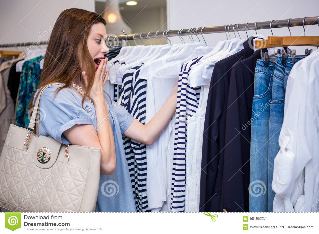 Price tag clothing store