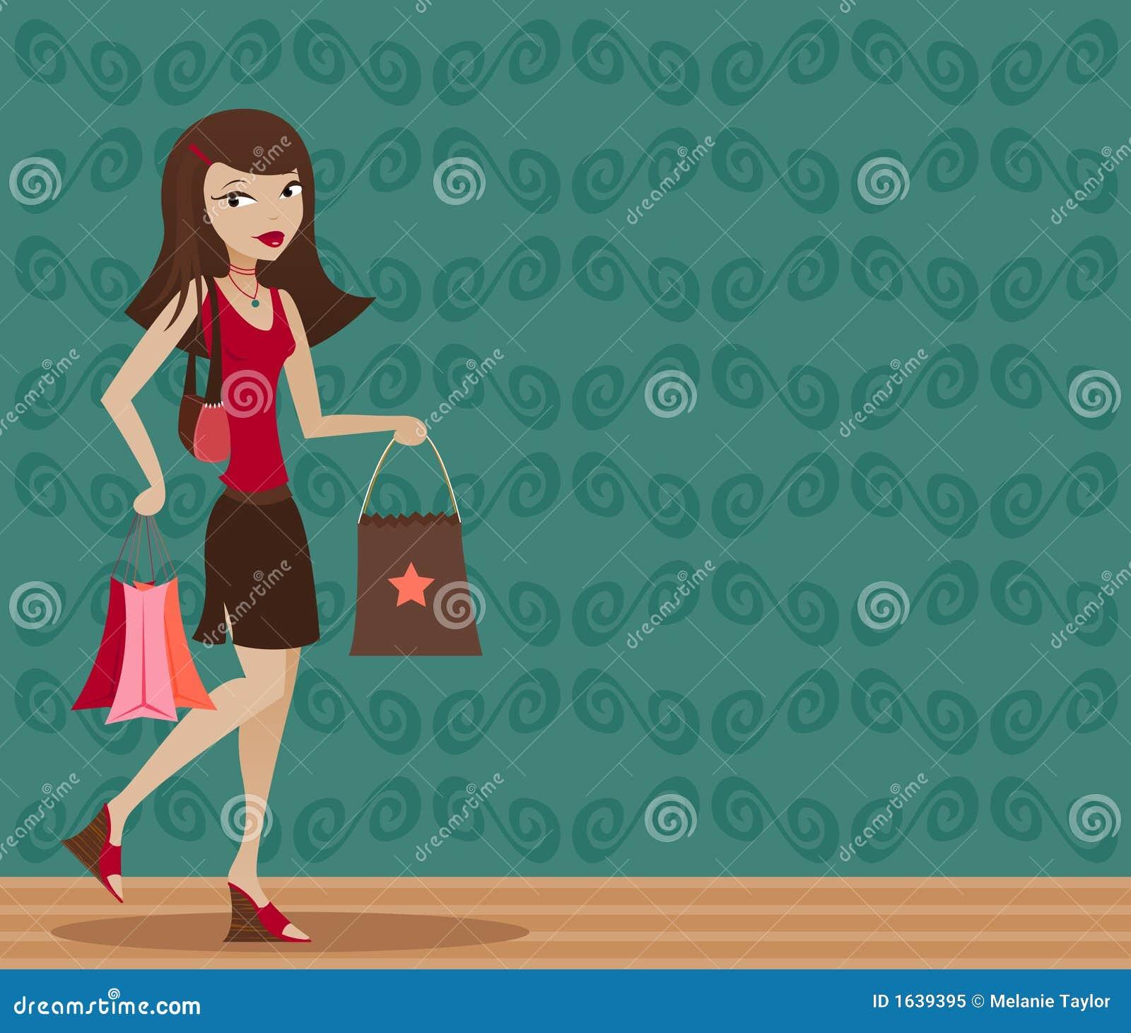 Brunette Shopper