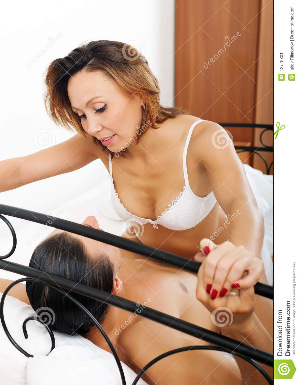 Brunette Woman Having Sex With Man Stock Photo - Image -2358