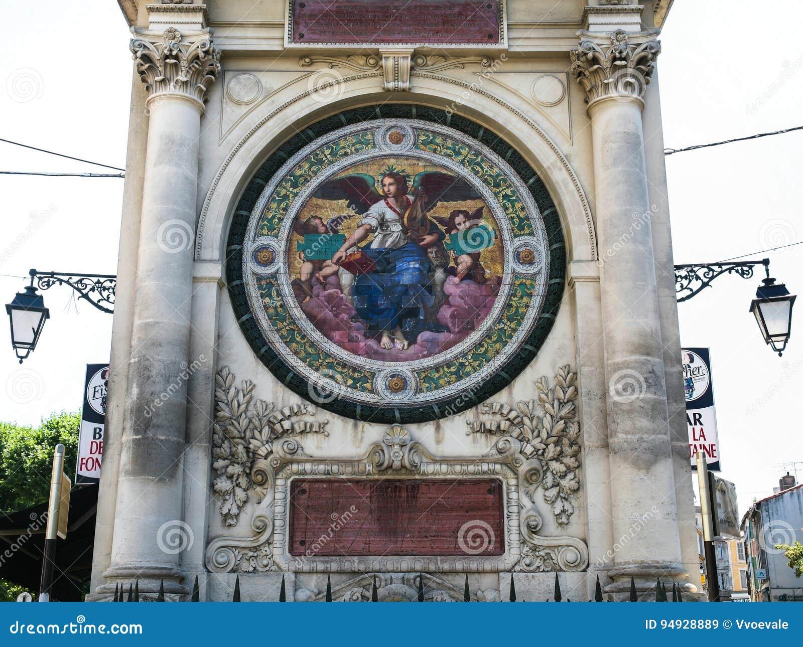 Brunnen Pierres-Amedee Pichot in Arles-Stadt