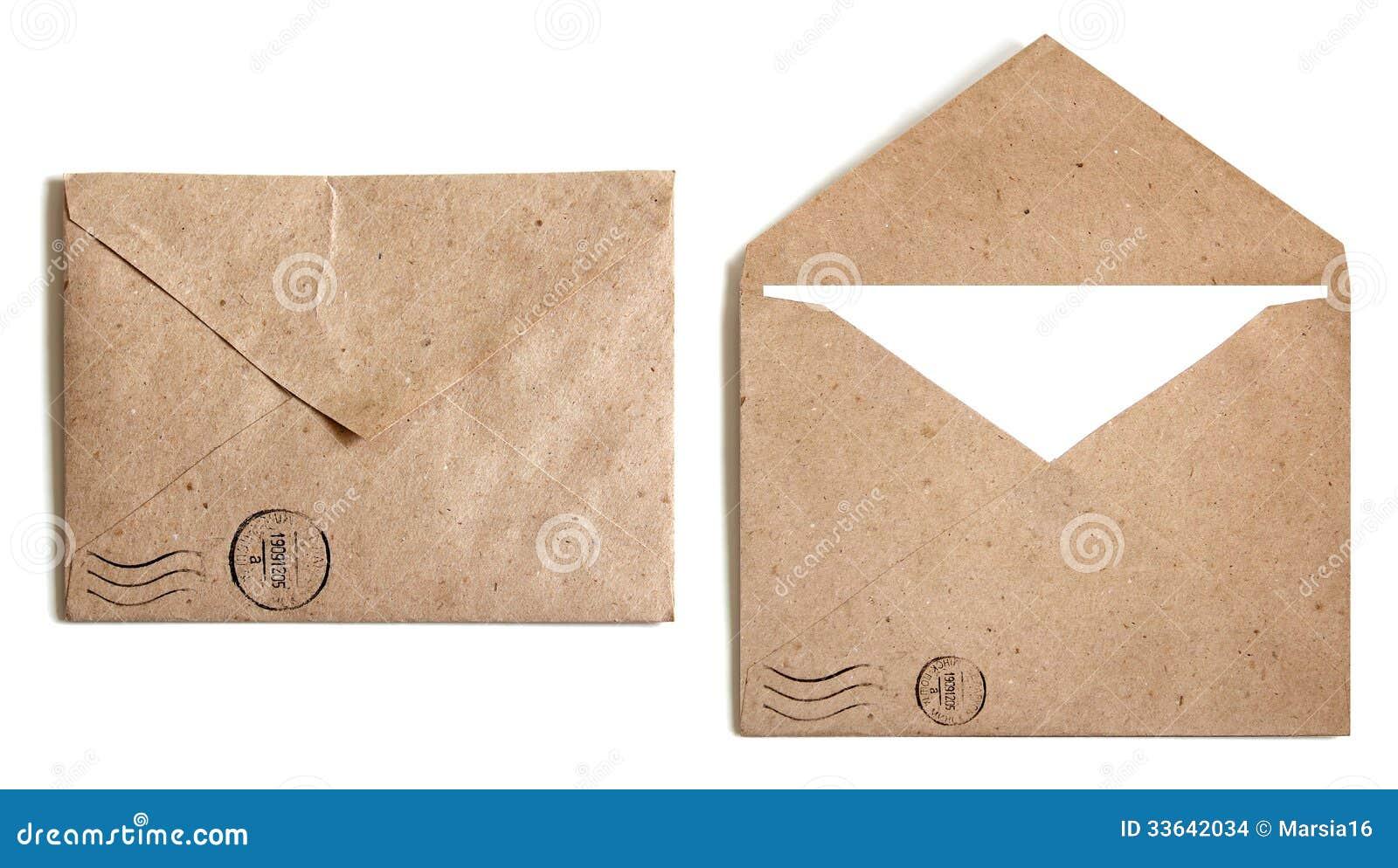 Brunt kuvert två