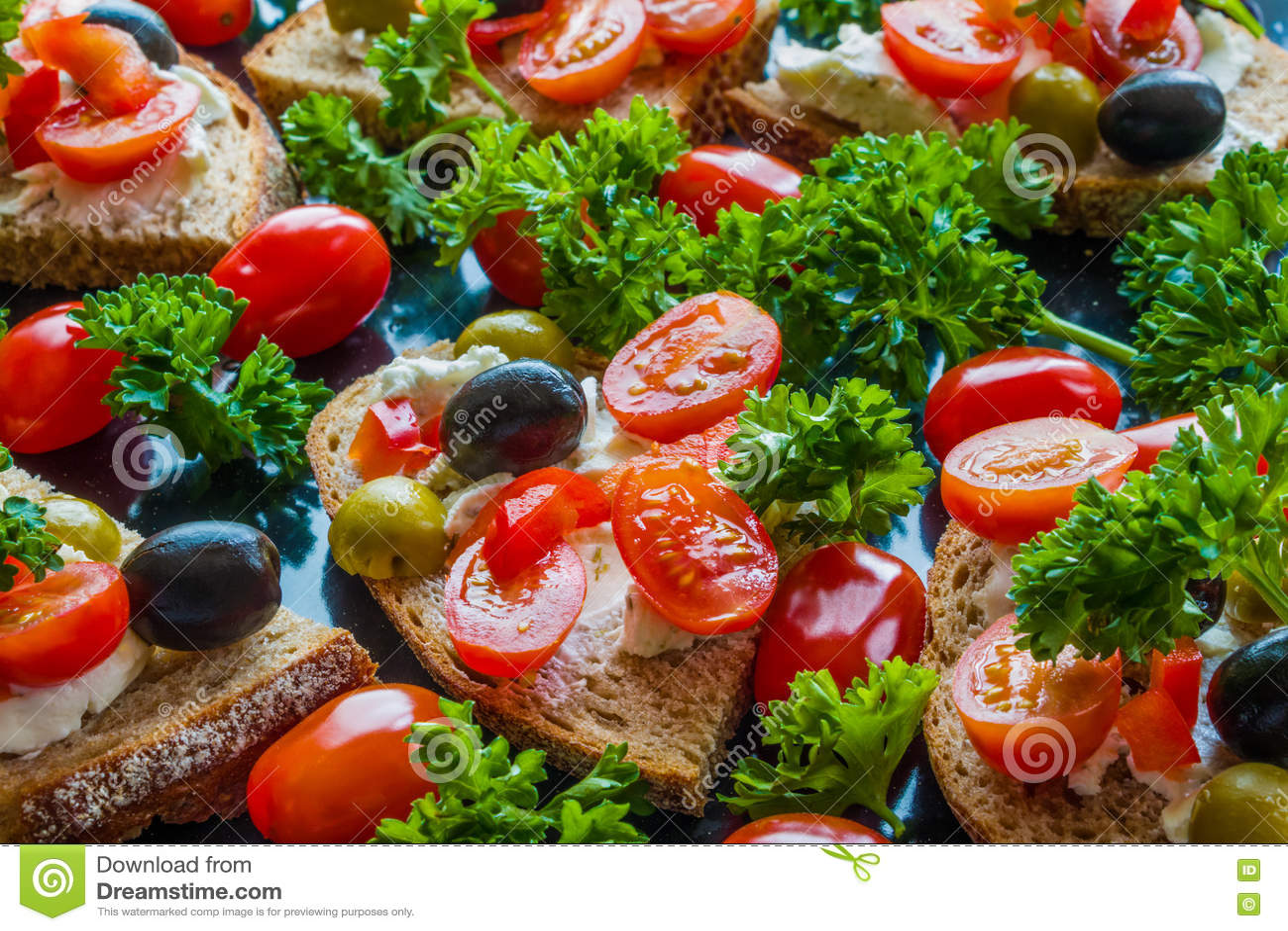 Red Pepper and Feta Bruschetta Recipe