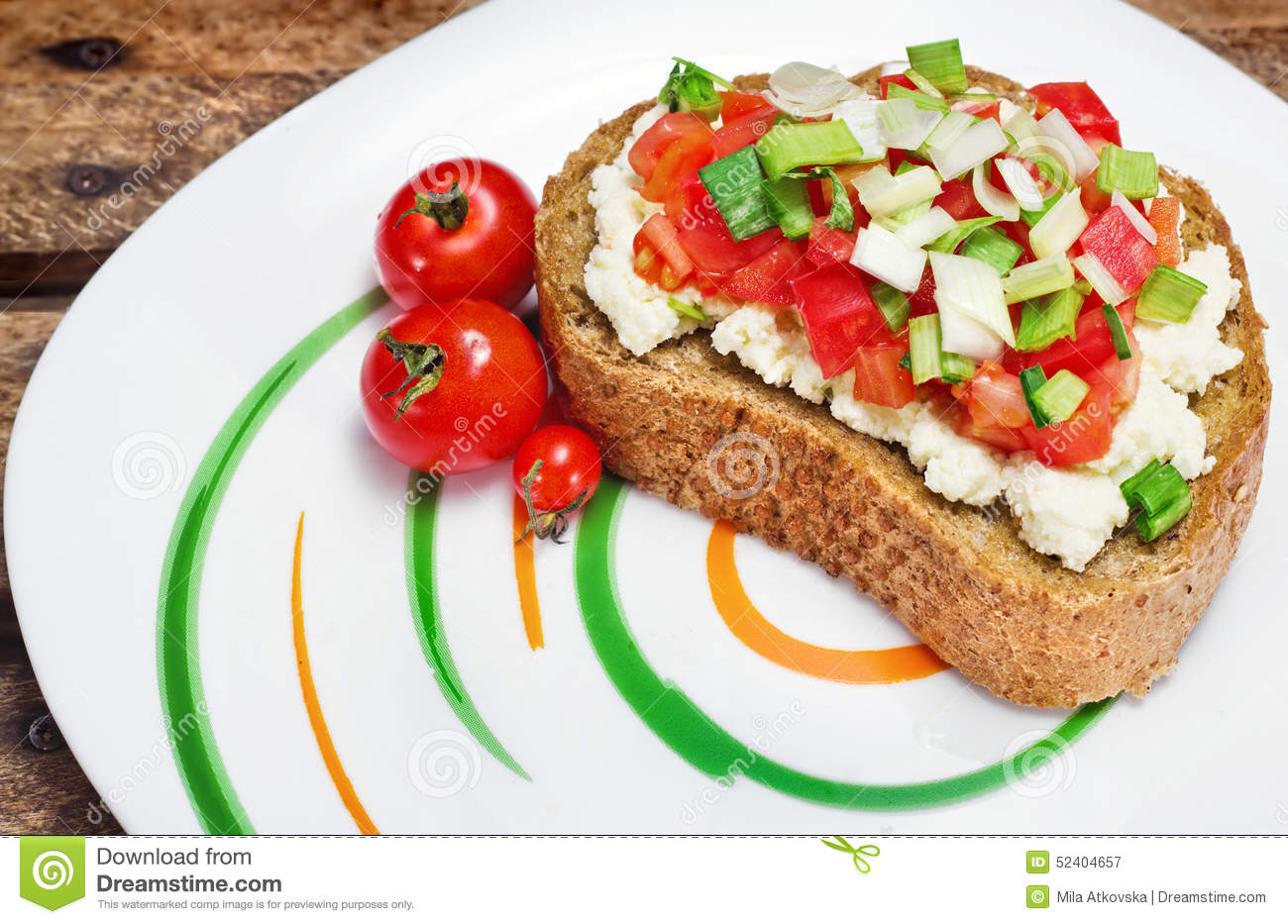 Bruschetta Italian Toasted Garlic Bread With Tomato Cheese Stock Image Image Of Calories French 52404657