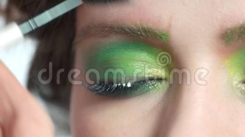 Brush Applying Makeup Close Up Stock Video Video Of Cosmetic