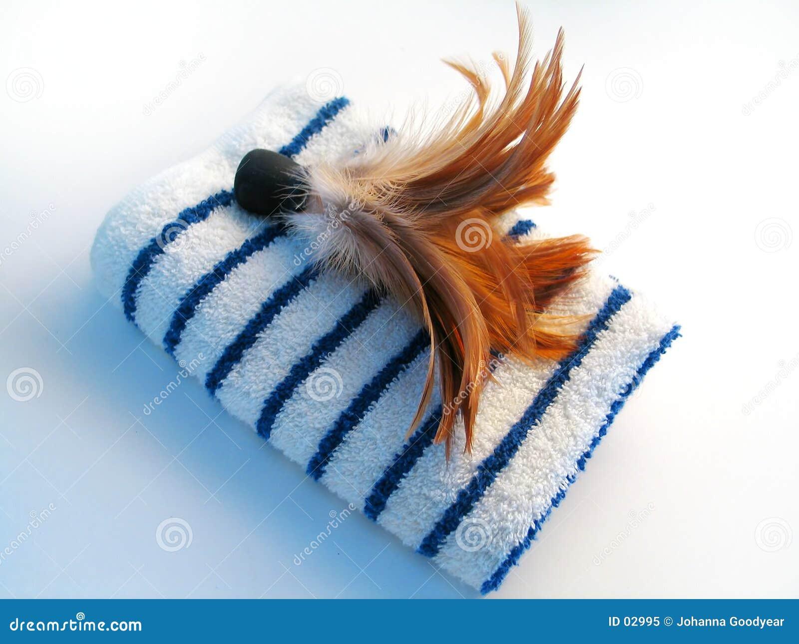 Brush fjäderhandduken
