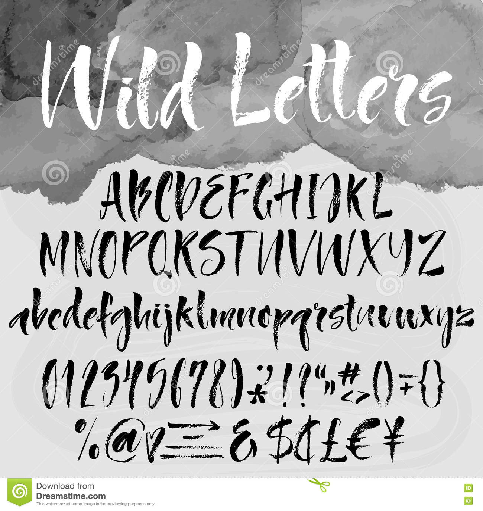 brush lettering alphabetical set stock vector image 75854342 brush lettering alphabetical set