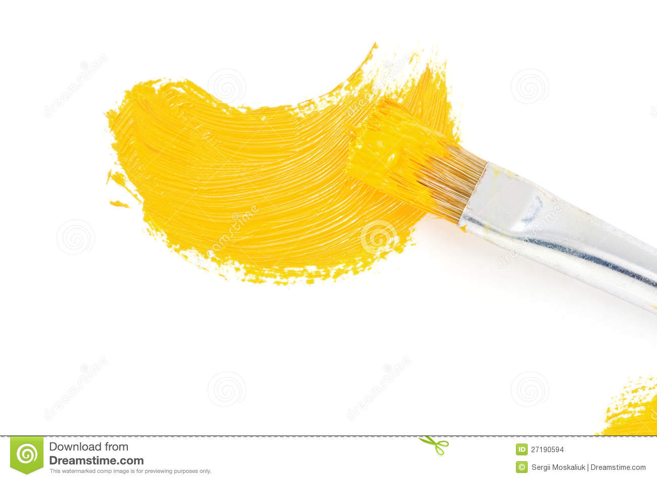 Brush and oil paint stroke on white stock images image for White paint going yellow