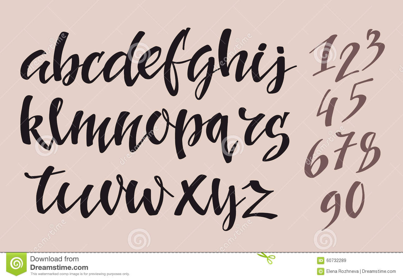 Brush pen style alphabet stock illustration image