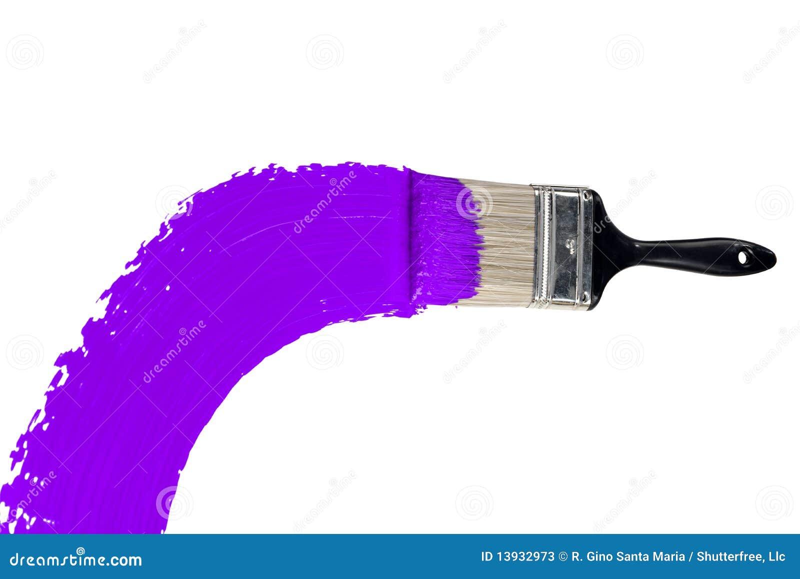 Purple Paint Brush With Purple Paint Stock Photos  Image 13932973