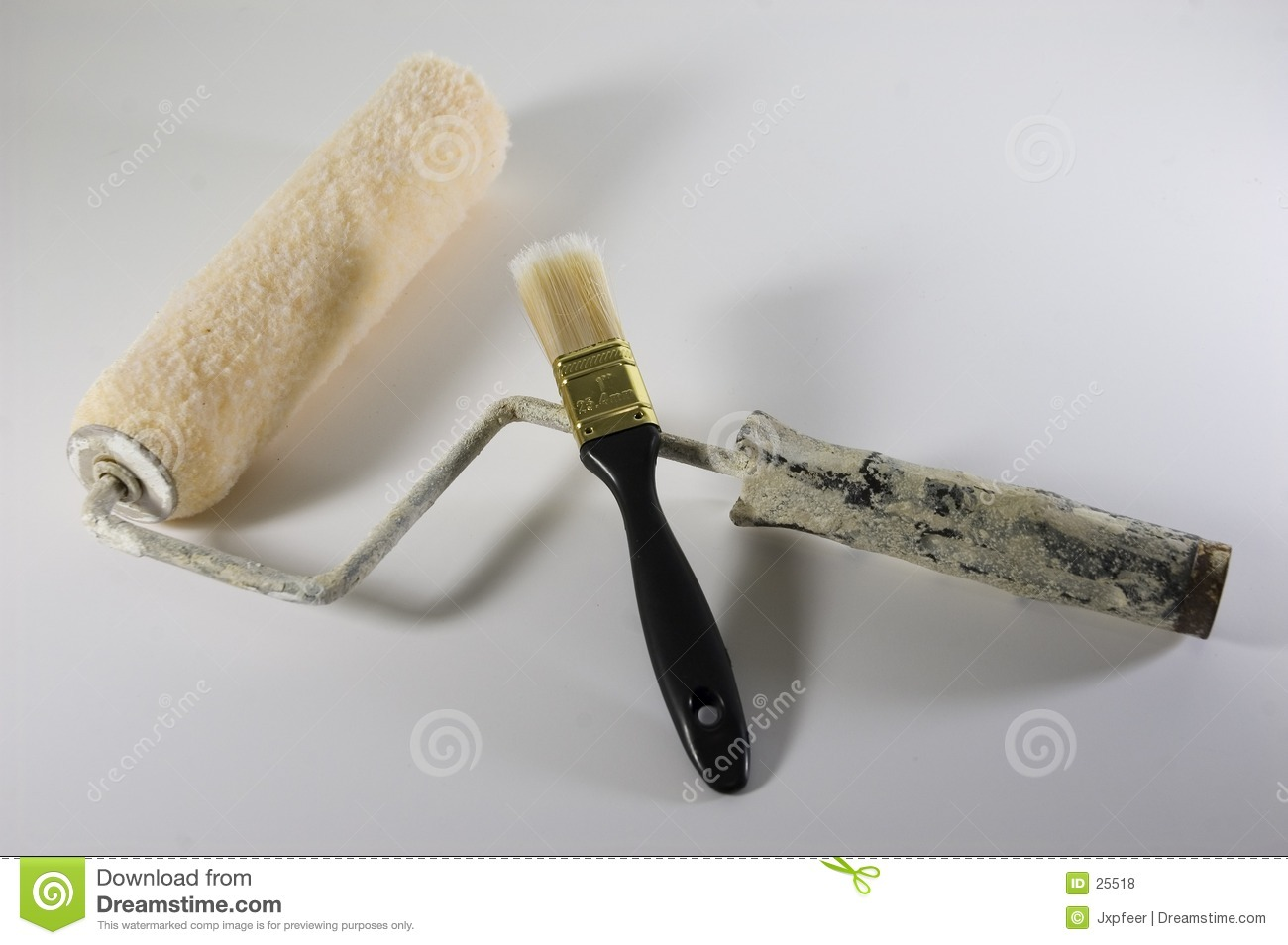 Brush and roller